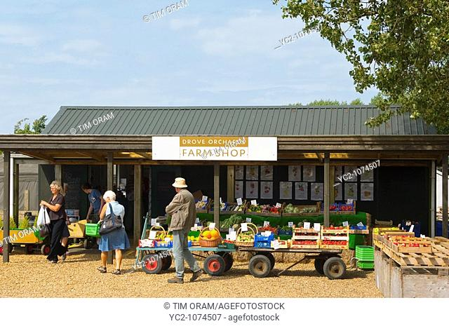 Drove Orchards Farm shop in North Norfolk Uk