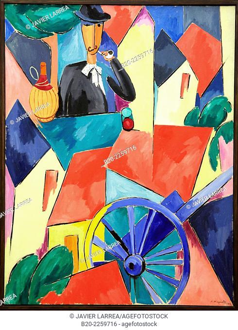 L'Homme à la charrette, 1914. Alberto Magnelli. Centre George Pompidou. Musee National d'Art Moderne. Paris. France