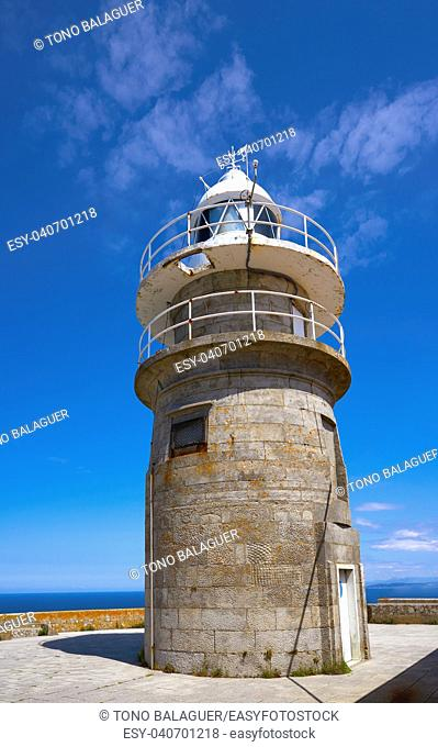 Islas Cies islands lighthouse Faro Cies in Vigo of Galicia