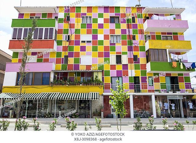Albania, Divjake, building