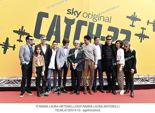 The cast : Grant Heslov, George Clooney, Giancarlo Giannini, Christopher Abbott, Kyle Chandler, Tessa Ferrer, Luke Davies