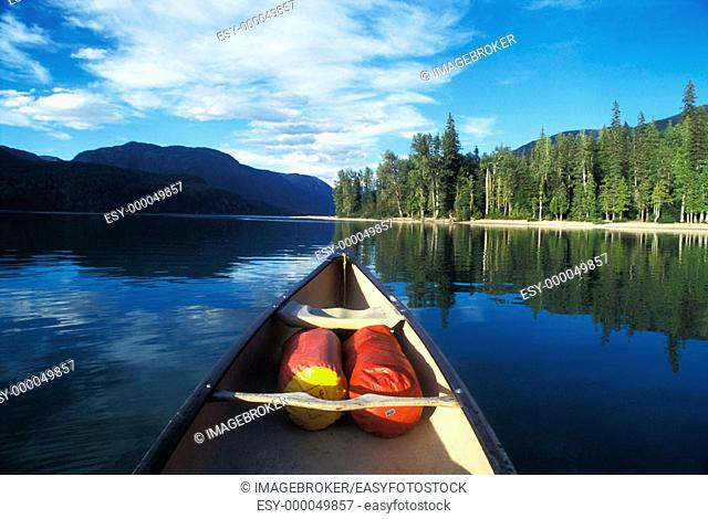 Canoe, Wells Grey Park, British Columbia, Canada