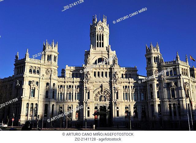 City Hall, Plaza de la Cibeles, Madrid, Spain