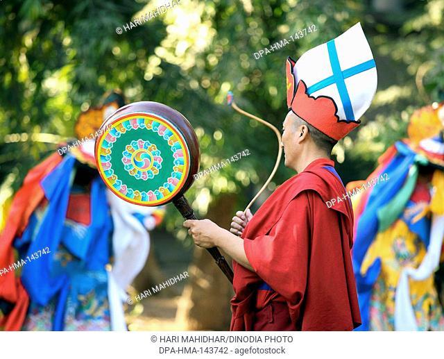 Colourful Tibetan musicians