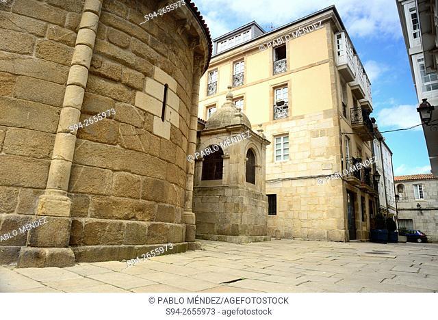Apse of the church of Santiago in A Coruña, Spain