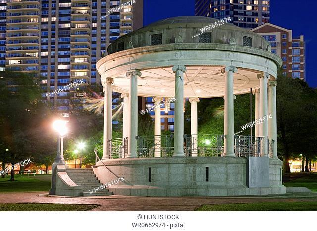 Gazebo in a public park, Parkman Bandstand, Boston Common, Boston, Massachusetts, USA