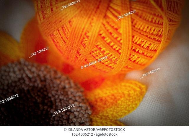 Ball of wool to work  Color  Handicraft