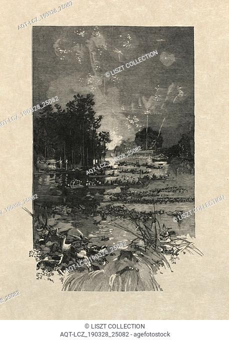 Le Monde Illustré, June 14, 1884: The Festival for the victims of duty, 1884. Auguste Louis Lepère (French, 1849-1918). Wood engraving; sheet: 31