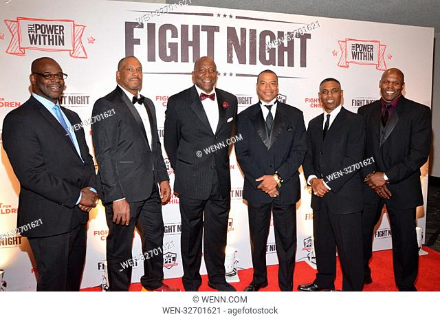 """Fight Night - Fight for Children - Arrivals Featuring: Gary Clark, Richard """"""""DOC"""""""" Walker, Former Redskins players Where: Washington DC, District Of Columbia"""