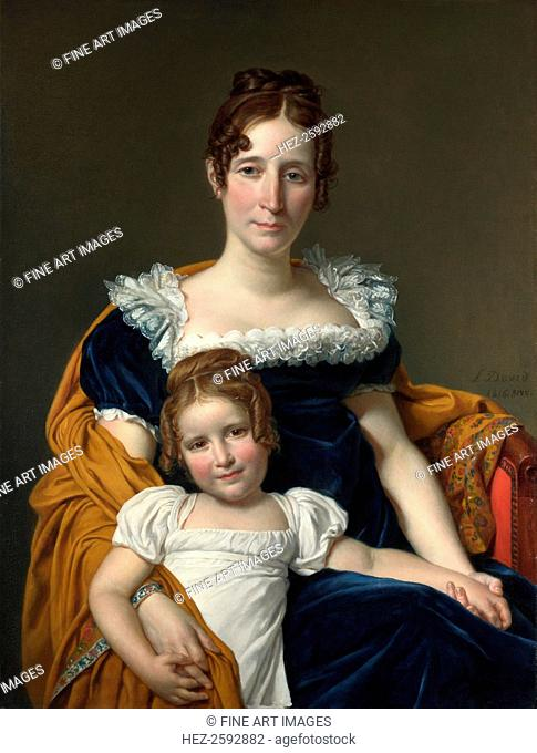 Portrait of the Comtesse Vilain XIIII and her Daughter, 1816. Found in the collection of the National Gallery, London