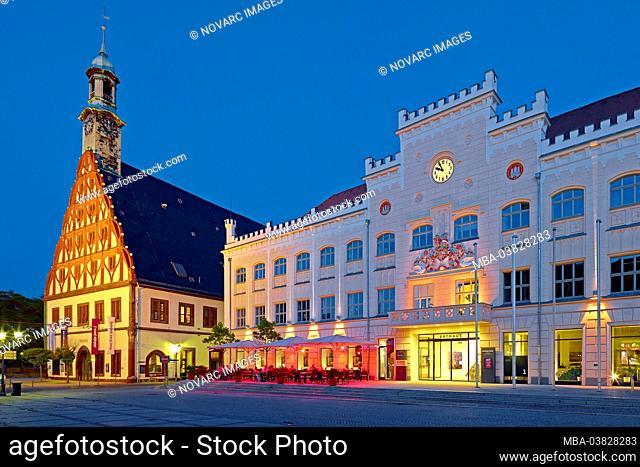 Gewandhaus and town hall in Zwickau, Saxony, Germany