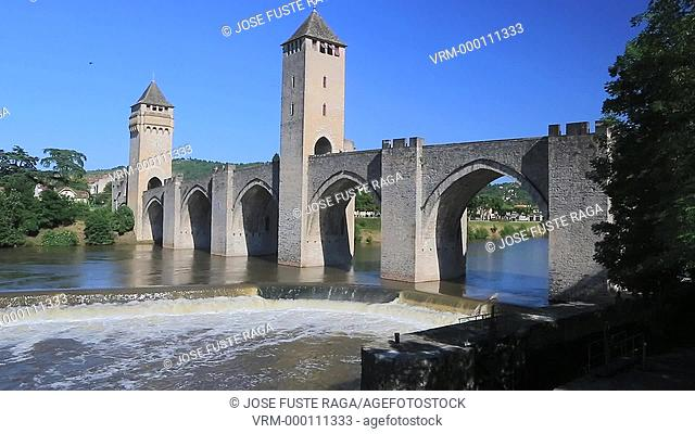 France , Cahors City , Louis Philippe Medieval Bridge