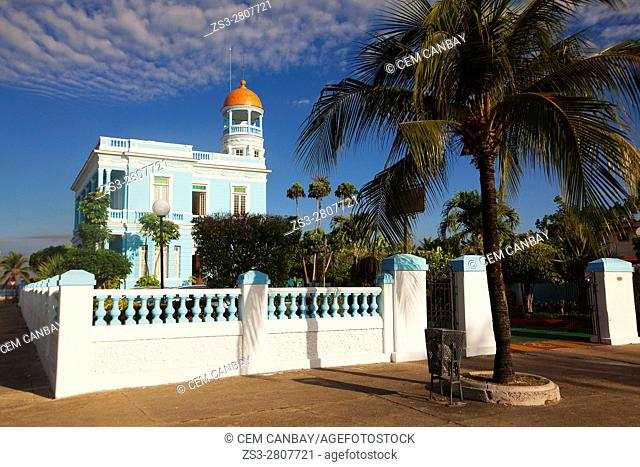 View to the Palacio Azul- Blue Palace at Punta Gorda district, Cienfuegos, Cuba, Central America