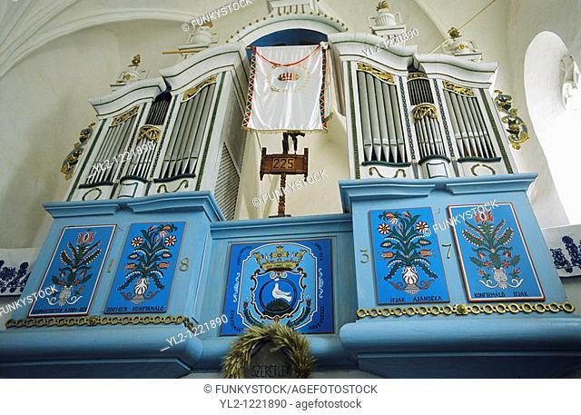 Inside of a Saxon Unesco World Heritage Church at Dariju  Szekelyderz  Transylvania, Romania