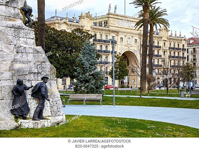 Santander bank headquarters, Jardines de Pereda, Santander, Cantabria, Spain, Europe