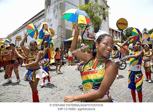 Street Carnival in Olinda near Recife, Pernambuco, Brazil
