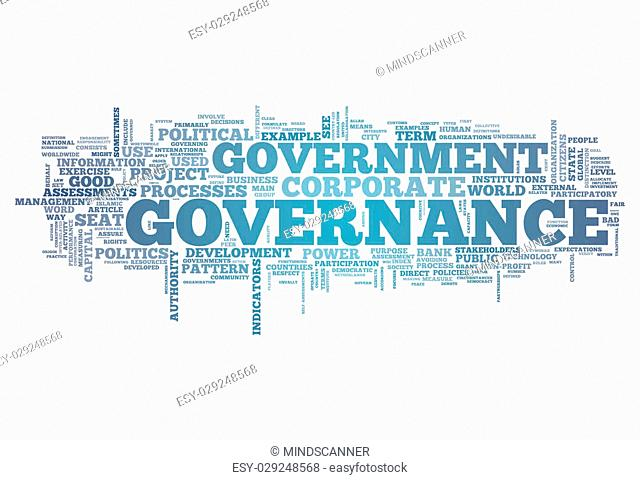 Word Cloud with Governance related tags