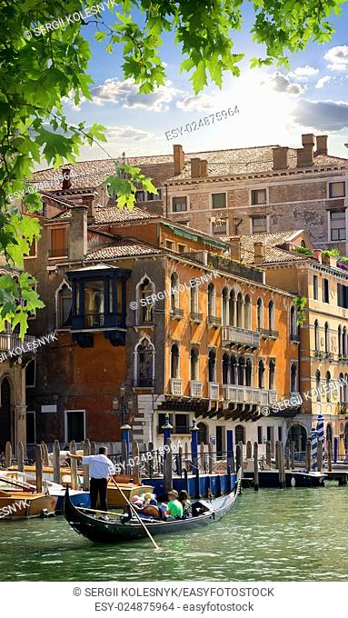 Travel to romantic Venice in summer, Italy