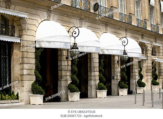The entrance to the Ritz Hotel in Place Vendome