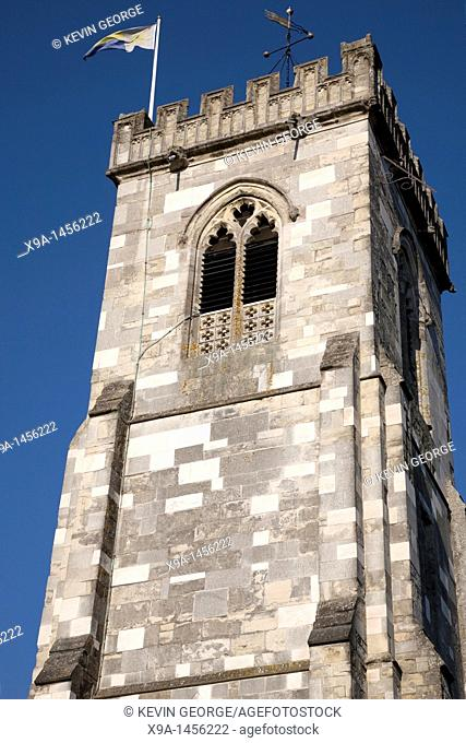 St Thomas of Canterbury Church Tower in Salisbury, England, UK