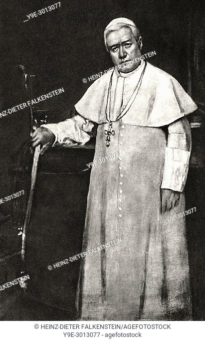 Saint Pius X, was Pope from 1903 to his death in 1914