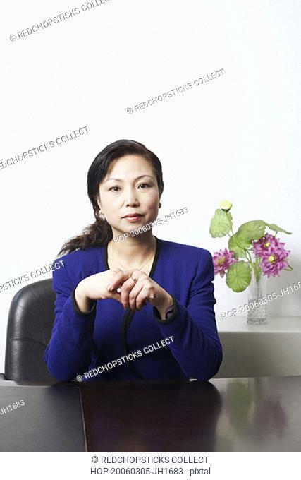 Portrait of a businesswoman sitting