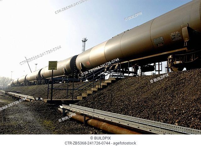 Oil tanker freight train