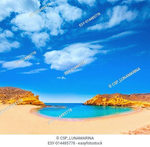 Cocedores beach in Murcia near Aguilas Spain