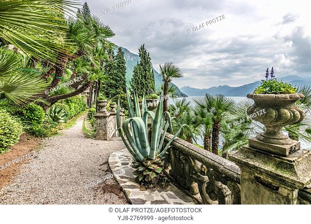 Botanic Garden of Villa Monastero, Varenna, Lombardy, Italy