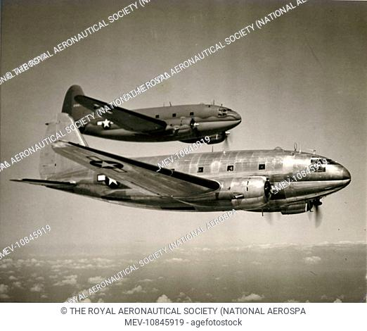 Two Curtiss C-46A-CU Commandos, 42-96803 and 42-96784. circa 1944