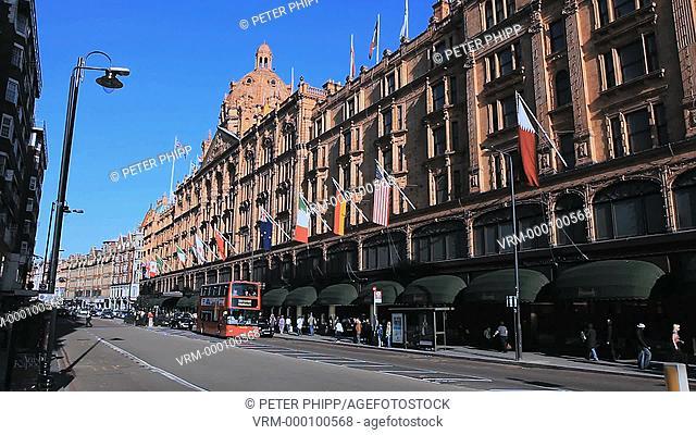 Harrods Store at Knightsbridge in Kensington London