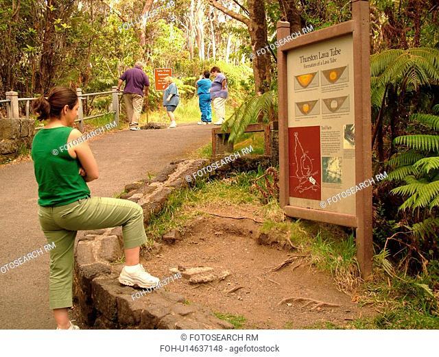 Big Island, Island of Hawaii, HI, Hawaii, Hawaii Volcanoes National Park, Kilauea Caldera, volcano, Thurston Lava Tube, Nahuku, trail