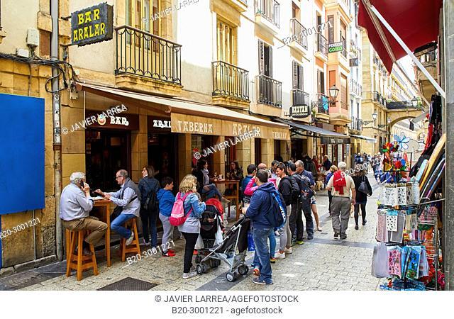 Bar Taberna Aralar, Calle Puerto, Parte Vieja, Old Town, Donostia, San Sebastian, Gipuzkoa, Basque Country, Spain