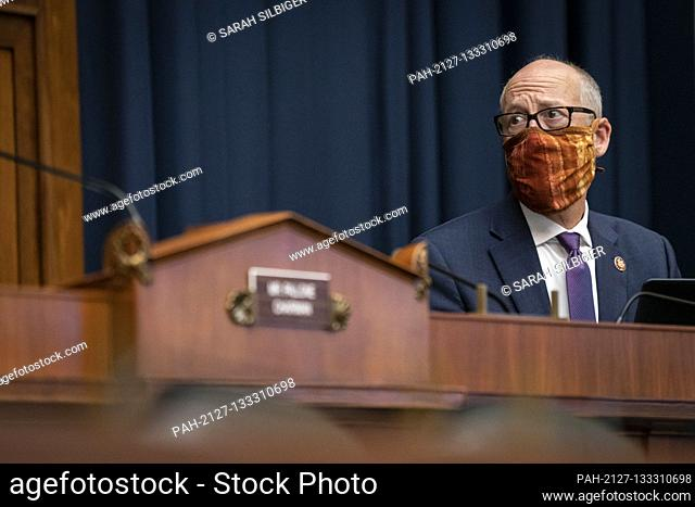 United States Representative Greg Walden (Republican of Oregon), ranking member, US House Energy and Commerce Committee, listens during a US House Energy and...