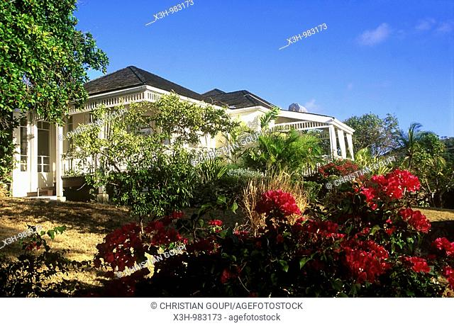 The Cotton House,the luxuary hotel of Mustik,Grenadines islands,Saint Vincent and the Grenadines,Winward Islands,Lesser Antilles,Caribbean Sea