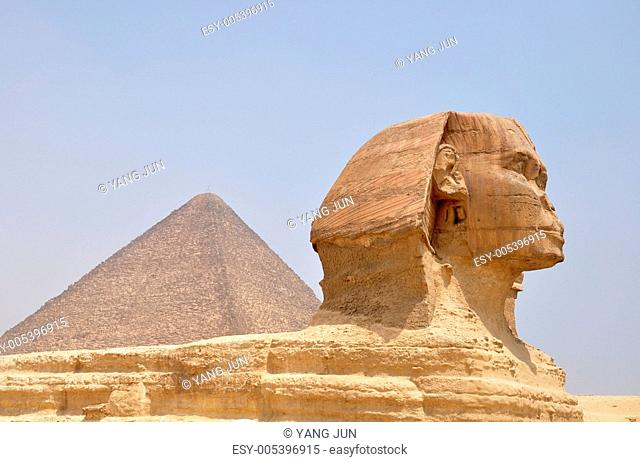 Sphinx and Pyramid Giza