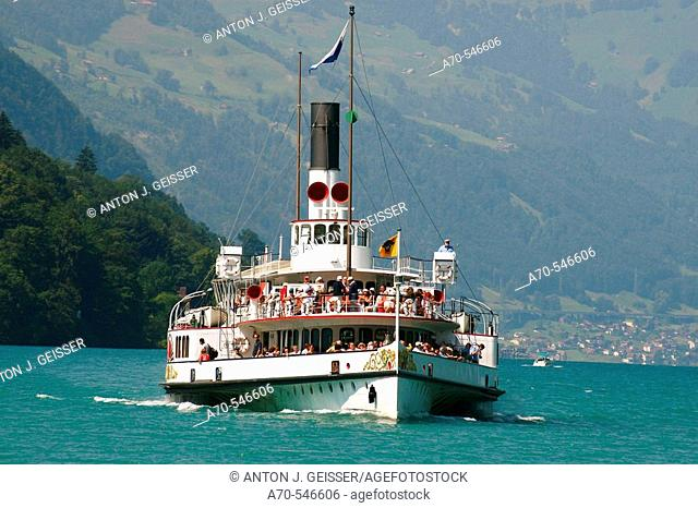 'Uri' paddle steamer. Lake Lucerne. Switzerland