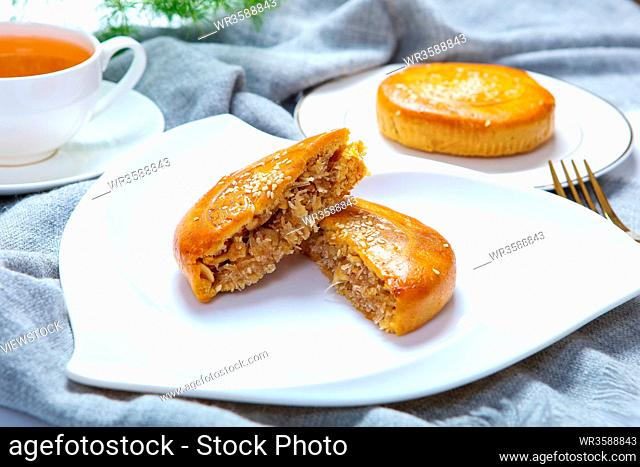 Traditional pastry tow loaves of bread