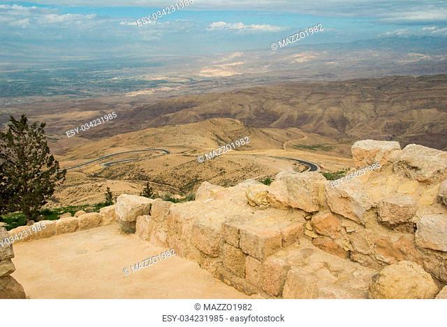 Landscape from Nebo mount, Jordan. Promise land