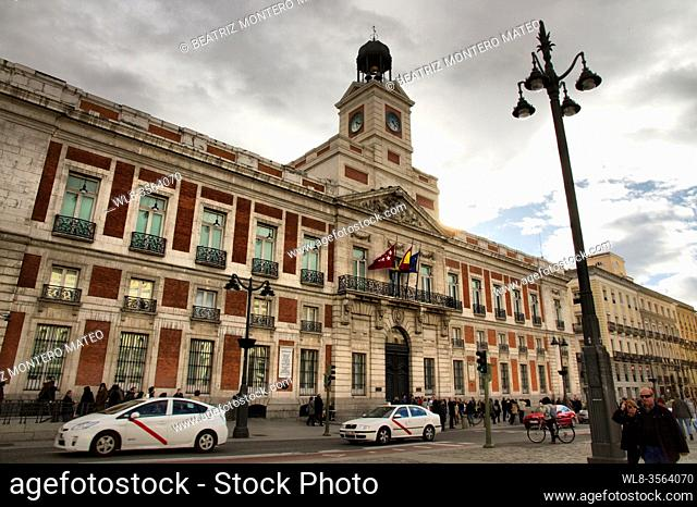 Puerta del Sol in the center of Madrid, Spain