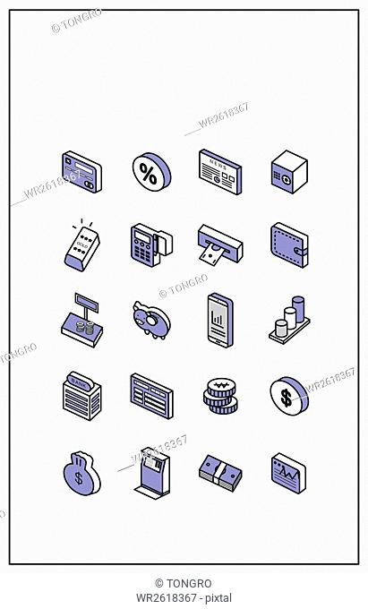 Icons related to finance and economy