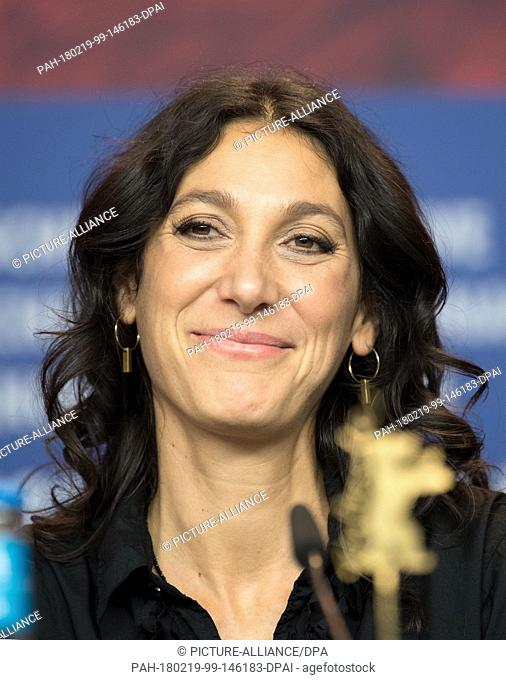 """19 February 2018, Germany, Berlin, Berlinale, Press Conference """"""""3 Tage in Quiberon"""""""", (""""""""3 Days in Quiberon""""""""). The director Emily Atef"""