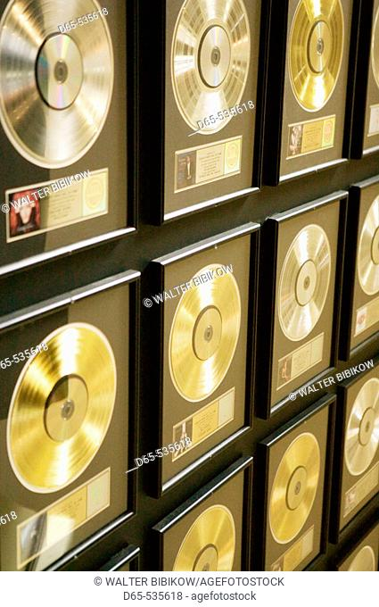 Country Music Hall of Fame-. Country Music Gold Records, Nashville, Tennessee, USA
