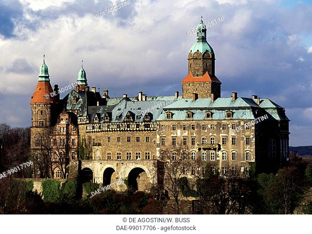 Ksiaz castle, Lower Silesian voivodship. Poland, 13th-18th century