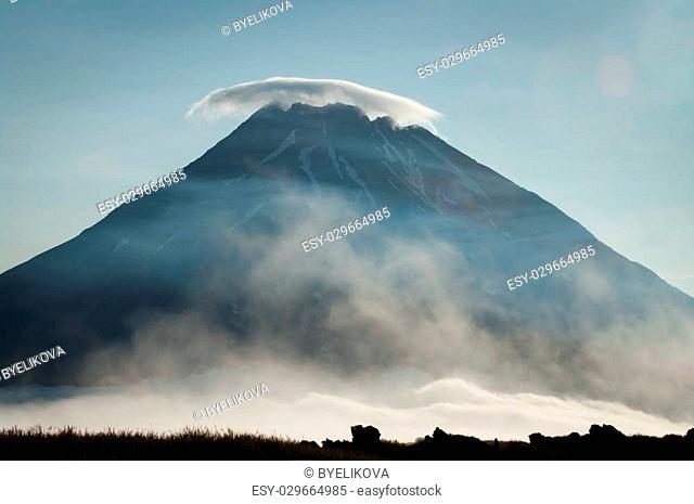 Fuss Peak Volcano at Paramushir Island, Kuril Islands, Russia