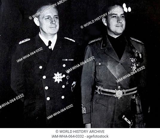German Foreign Minister Von Ribbentrop meets with Italian Foreign Minister Ciano in 1938