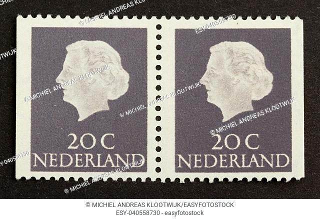 HOLLAND - CIRCA 1970: Stamp printed in the Netherlands shows the head of state, circa 1970