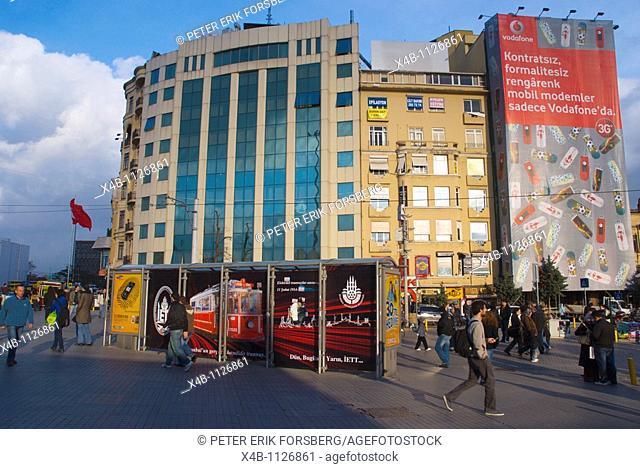 Taksim Square Beyoglu district Istanbul Turkey Europe