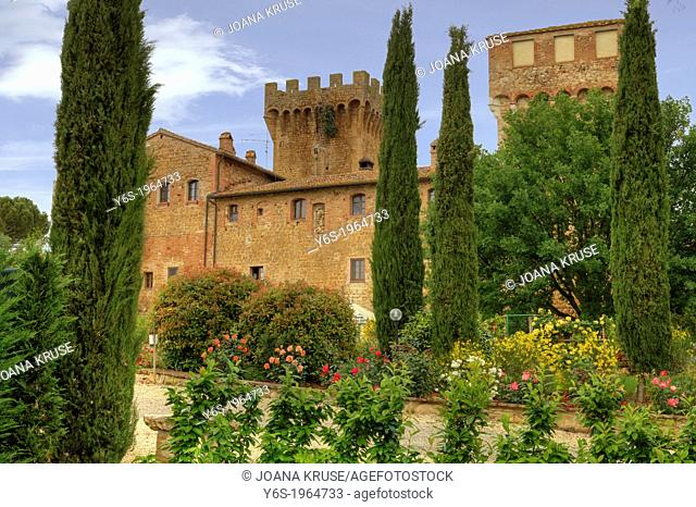 Spedaletto, Castle, Pienza, Tuscany, Italy