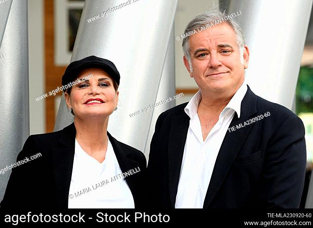 Simona Ventura, Ludovico Di Meo director Rai2  during the photocall, Rome, ITALY-23-09-2020